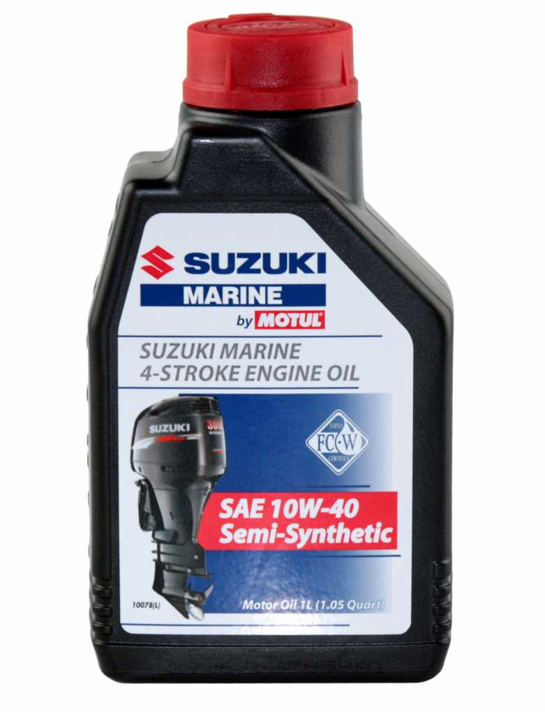 Масло моторное SUZUKI (Сузуки) MARINE Semi-Synthetic 4T, SAE 10W-40 (1л)